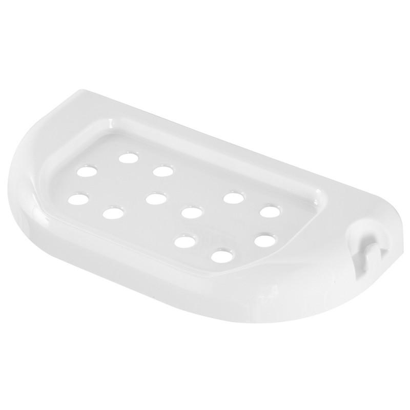 Mensola in ABS Bianca 23 cm con Doppio Fissaggio Tasselli o Biadesivo Gioia