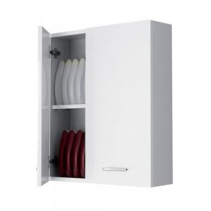 Pensile Bagno 60x70 cm colore Bianco con Ante Reversibili Feridras - 4