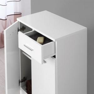 Base Doppia con Cassetto e due Ante Bianco 60x80 cm Bianco Feridras - 4