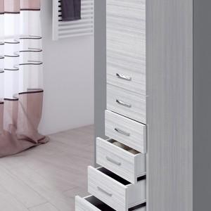 Colonna Bagno Porta Asciugamani H.154 Colore Grigio Multiuso con 5 Cassetti Feridras - 4