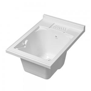 Vasca Lavatoio in Resina Capiente 45x60 cm colore Bianco
