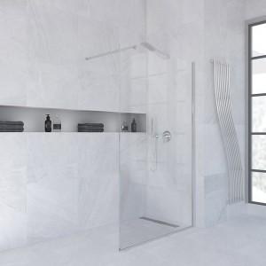 Parete doccia 120 cm Walk-In Trasparente in Cristallo 8 mm Anticalcare h. 200