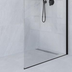 Parete walk-in nera 160 cm Vetro Trasparente h. 200 cm