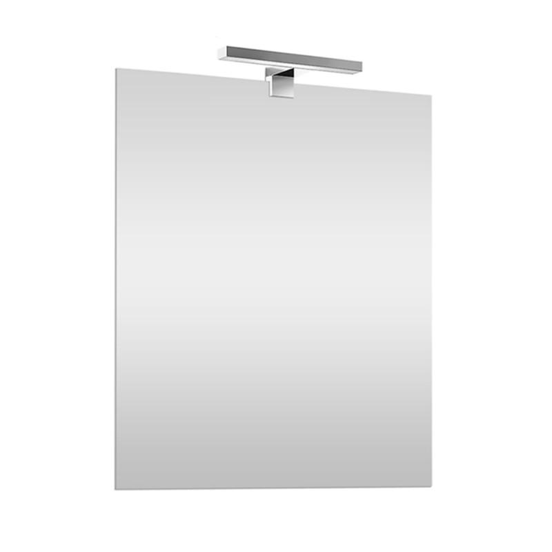 Specchio LED reversibile 50x60 con Lampada LED 30 cm cromo