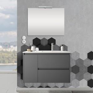 Mobile sospeso 85,5 cm Mavi 2 cassetti + anta sinistra grigio grafite