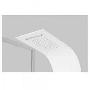 colonna per doccia serie alaska 4 funzioni bianco e alluminio