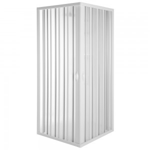 Box Doccia a Soffietto 80x80 cm in PVC Riducibile con Apertura Centrale