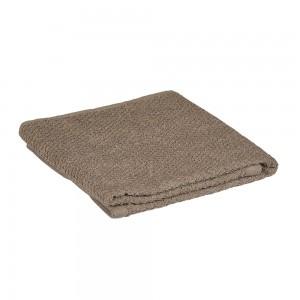 Asciugamano viso in 100% cotone colore marrone 55x100 cm