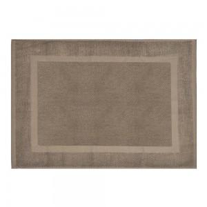 Tappeto scendi doccia 100% cotone colore marrone 45x65 cm