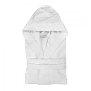 Accappatoio bagno 100% cotone bianco taglia M con tasche e cintura
