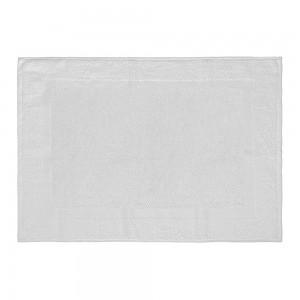 Tappeto scendi doccia 100% cotone in colore bianco 45x65 cm