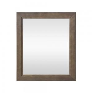 Specchio con cornice il legno massello 70x60 cm noce Arte Povera