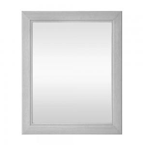 Specchio con cornice in legno massello 70x90 cm bianco shabby