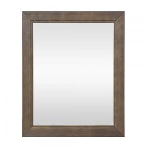 Specchio con cornice in legno massello 70x90 cm noce Arte Povera