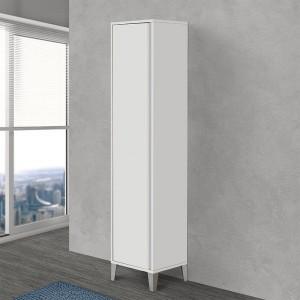 Colonna bagno porta scopa da 40 cm linea Way colore bianco lucido