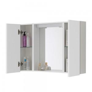 Interni e ripiani Specchio contenitore bagno  Way 2 ante bianco lucido