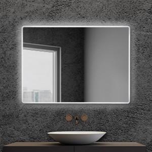 Specchiera bagno 80x60 reversibile completa di cornice a LED