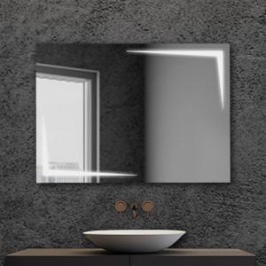 Specchio bagno con luci LED 80x60cm installazione reversibile