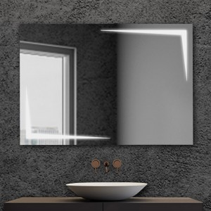 Specchio bagno con luci LED 105x70cm installazione reversibile