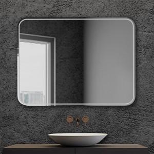Specchio serigrafato bagno con telaio 90x70 cm installazione reversibile