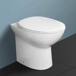 WC filomuro rimless serie Morning in ceramica bianco lucido