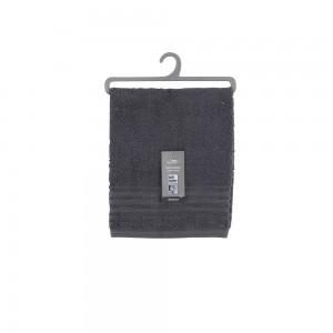 Asciugamani Ospiti Da Bagno 40x60 Cm Cotone Grigio