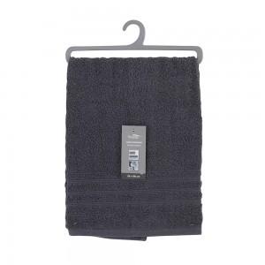 Asciugamano Viso Da Bagno 55x100 Cm Cotone Grigio