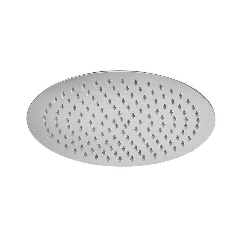 Soffione doccia slim tondo diametro 30 cm in acciaio cromato