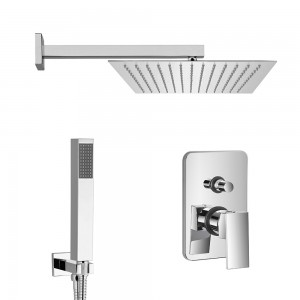 Set doccia Italia braccio 40 cm + soffione 25x25 cm + kit doccia + miscelatore