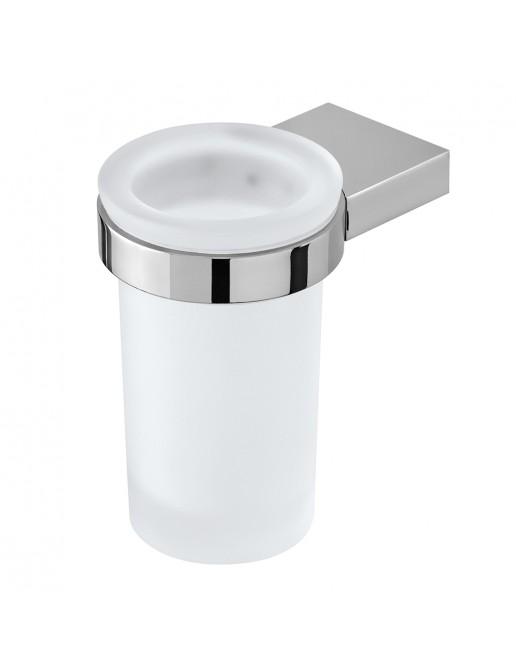 porta spazzolino n acciaio cromo