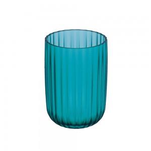 Bicchiere portaspazzolini serie Roma in acrilico turchese pastello
