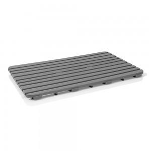 Pedana doccia antiscivolo 80x50 cm rettangolare grigio con effetto legno