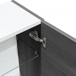 Colonna bagno sospeso Zenit L 31 cm anta reversibile rovere scuro