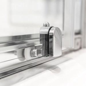 Box doccia linea Geo in cristallo trasparente