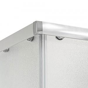 Box Doccia 70x70 cm in cristallo opaco linea Geo