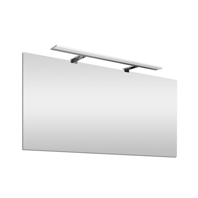 Specchio bagno LED 105x70 cm con lampada 80 cm