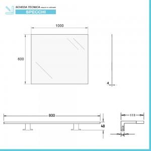 scheda Specchio bagno LED reversibile
