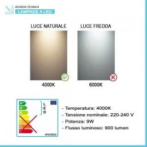 Specchio bagno con luce LED 105x70 cm