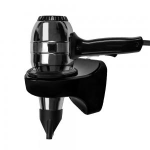 Asciugacapelli 1300W in acciaio con supporto a muro in ABS nero