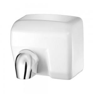 Asciugamani elettrico con sensore 2400W in acciaio bianco lucido