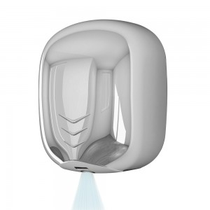 Asciugamani elettrico con sensore 1100W in acciaio inox lucido