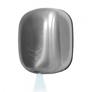 Asciugamani elettrico con sensore 1100W in acciaio inox satinato