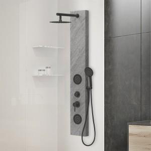 Colonna doccia idromassaggio in acciaio inox 3 funzioni effetto pietra