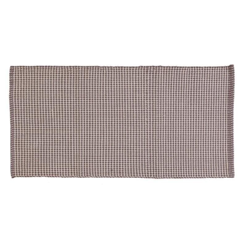 Tappeto in Cotone 100% Cotone con Antiscivolo 50x90 Grigio Grata