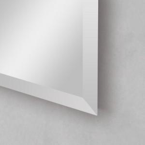 Bisellatura specchiera rettangolare con montaggio reversibile
