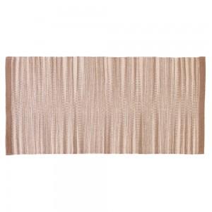 Tappeto 100% cotone da 50x80 cm color Beige per Bagno o Lavanderia