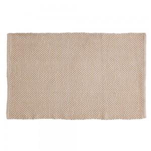 Tappeto Ecru in cotone 100% 50x80 cm Arredo Bagno Moderno