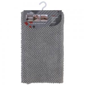 tappeto in cotone colore grigio bagno