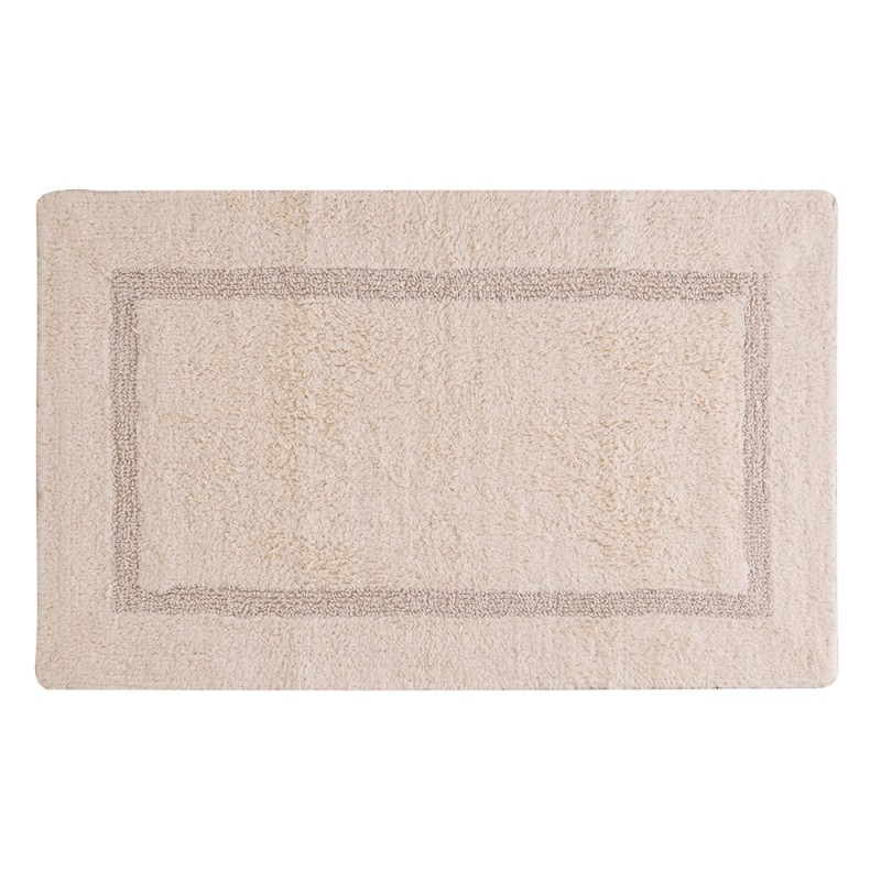Tappeto in Cotone 100% con Antiscivolo 50x80 Ecru