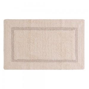 Tappeto In Cotone 100% Con Antiscivolo 60x100 cm Ecru
